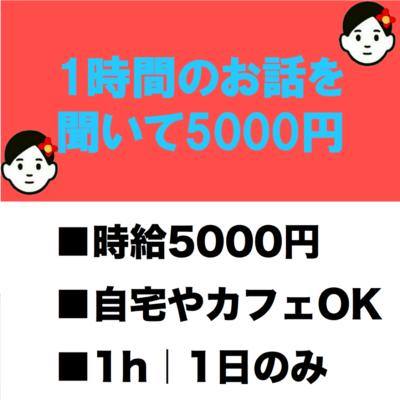 1時間説明を聞いて5000円!保険モニター